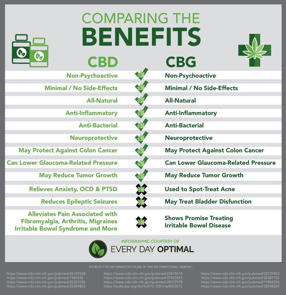 Cbg Oil Vs Cbd Oil