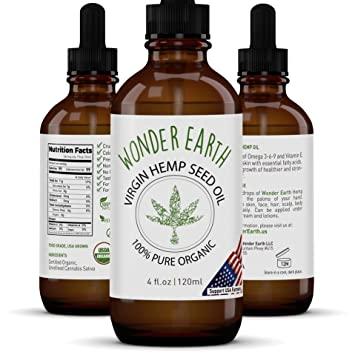 Organic Hemp Seed Oil With 0.5 Vitamin E